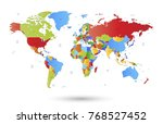 color world map vector | Shutterstock .eps vector #768527452