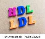 Small photo of HDL and LDL written with colorful letters