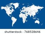 blue world map vector | Shutterstock .eps vector #768528646