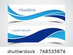 set of modern design   vector... | Shutterstock .eps vector #768535876
