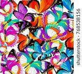 beautiful color butterflies set ...   Shutterstock .eps vector #768538156
