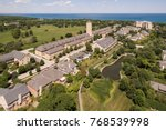 aerial view of fort sheridan... | Shutterstock . vector #768539998