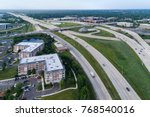 aerial view of a highways ... | Shutterstock . vector #768540016