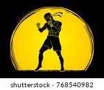 muay thai  thai boxing standing ... | Shutterstock .eps vector #768540982
