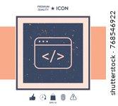 code editor icon | Shutterstock .eps vector #768546922