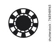 casino chip flat icon  poker... | Shutterstock .eps vector #768548965