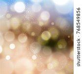 cool bokeh background | Shutterstock .eps vector #768549856