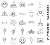 confectionery icons set.... | Shutterstock .eps vector #768552556
