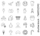 confectionery shop icons set.... | Shutterstock .eps vector #768552592
