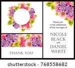vintage delicate invitation... | Shutterstock .eps vector #768558682