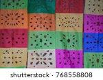 festive paper  a wall of... | Shutterstock . vector #768558808