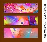 fluid color background. liquid ... | Shutterstock .eps vector #768560668