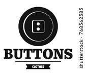 clothes button textile logo.... | Shutterstock .eps vector #768562585