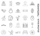 conjugal icons set. outline set ... | Shutterstock .eps vector #768564406
