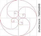 fibonacci spiral. golden ratio | Shutterstock .eps vector #768566848