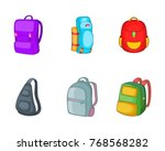 backpack icon set. cartoon set... | Shutterstock .eps vector #768568282