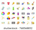 paint icon set. cartoon set of... | Shutterstock .eps vector #768568852