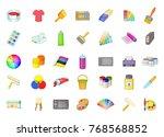 paint icon set. cartoon set of... | Shutterstock .eps vector #768568852