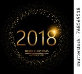 happy new year background with... | Shutterstock .eps vector #768569518
