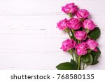bunch of pink  roses  flowers... | Shutterstock . vector #768580135