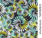 seamless five color pattern.... | Shutterstock .eps vector #768580822