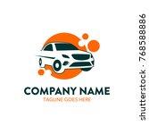 car rental logo template.... | Shutterstock .eps vector #768588886