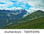 austrian alps view on the... | Shutterstock . vector #768592096