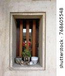 window house wall | Shutterstock . vector #768605548