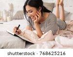 beautiful young asian woman... | Shutterstock . vector #768625216