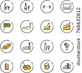 line vector icon set   wine... | Shutterstock .eps vector #768632812