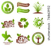 ecology icons and design... | Shutterstock .eps vector #76863952
