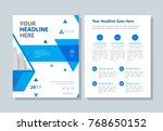 annual report  broshure  flyer  ... | Shutterstock .eps vector #768650152
