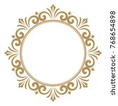 decorative line art frames for... | Shutterstock .eps vector #768654898