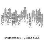 modern city skyline. vector... | Shutterstock .eps vector #768655666