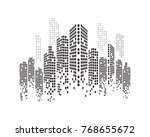 modern city skyline. vector... | Shutterstock .eps vector #768655672