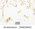 golden confetti background in... | Shutterstock .eps vector #768656062