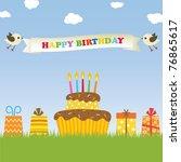 happy birthday background | Shutterstock .eps vector #76865617
