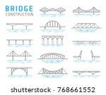 bridge constructions vector set | Shutterstock .eps vector #768661552