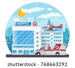 hospital building  medical icon....   Shutterstock . vector #768663292