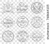 set of labels and signs of... | Shutterstock . vector #768664105