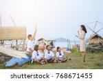 beautiful thai teacher in... | Shutterstock . vector #768671455