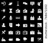news icons set | Shutterstock .eps vector #768672202
