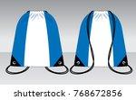 stripe drawstring bag design ... | Shutterstock .eps vector #768672856