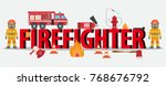 firefighting equipment with...   Shutterstock .eps vector #768676792