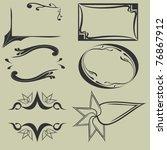 set of the vintage frames | Shutterstock .eps vector #76867912