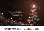 christmas and new year glowing... | Shutterstock .eps vector #768682108