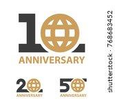 10 20 50 years anniversary... | Shutterstock .eps vector #768683452