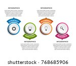 abstract options infographics... | Shutterstock .eps vector #768685906