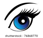 eye | Shutterstock .eps vector #76868770