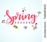 spring season sale design with... | Shutterstock .eps vector #768689602